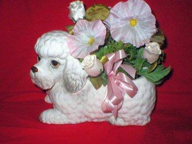 Relpo Vintage Japanese Poodle Dog Pot Planter