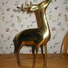 Solid Brass Reindeer Christmas Holiday Figurine
