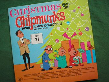 Christmas With The Chipmunks Vintage 1980 LP Record