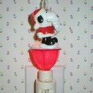 Peanuts Snoopy Santa Bubble Lamp Night Light