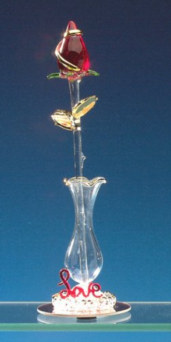 Glass Valentine Rosebud