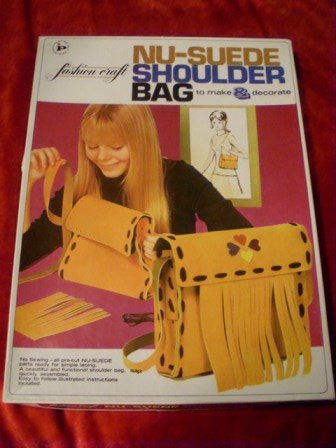 Nu-Suede Shoulder Bag Make your own! Kit* Vintage!