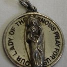 Vintage Sterling OUR LADY OF THE SNOWS Charm PRAY FOR US