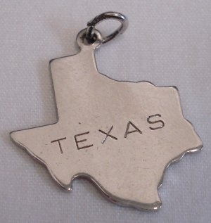 Vintage Automade Sterling TEXAS STATE MAP Charm