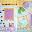 2 CUSTOM PREMADE SCRAPBOOK PET PAGES CATS RULE
