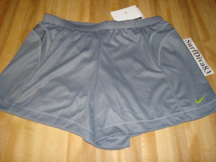 NwT M NIKE DRI-FIT Women 2 in 1 WorkOut Shorts NeW Gray Medium