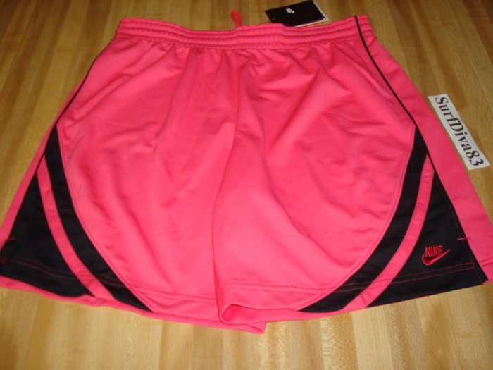 NwT M NIKE DRI-FIT Women Pink Black WorkOut Shorts NeW Medium