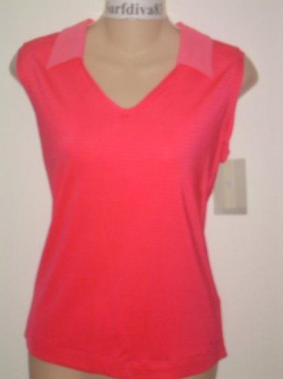 Nwt M 8-10 NIKE GOLF DRI-FIT Women Tank Top Shirt New Pink Medium
