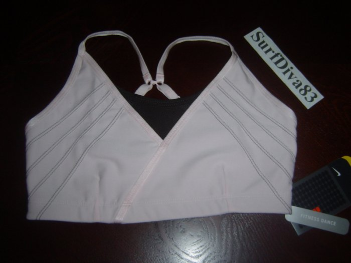 NwT L NIKE Sport Bra Top New Women DRI-FIT SHIBUYA $38 Large Pink