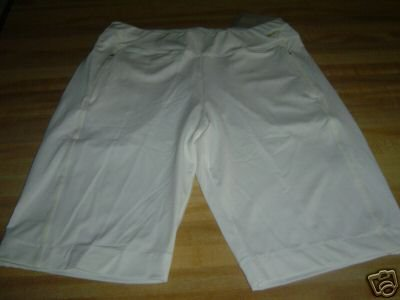 NwT M NIKE GOLF DRI-FIT White Bermuda Women Shorts New
