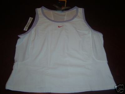 Nwt M NIKE DRI-FIT BORDER Tank Top Shirt New WomeN $40 Medium