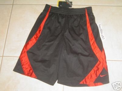 NwT M NIKE DRI-FIT Black Red Basketball Shorts Men New