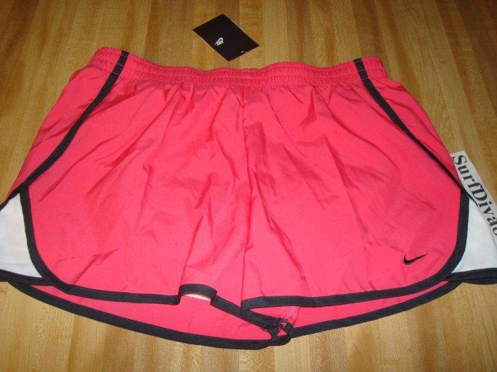 NwT M 8 10 NIKE Women Pink Run Track Running Shorts NeW