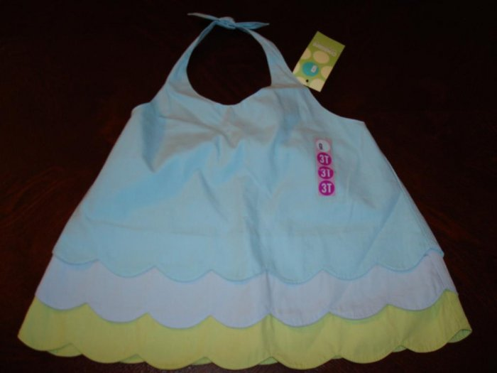 Nwt 3/3T GYMBOREE SPLASH Tier Halter Top Shirt New Girl