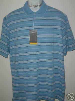 NwT L NIKE GOLF Dri-FIT UV Stripe Polo Top Shirt New 60