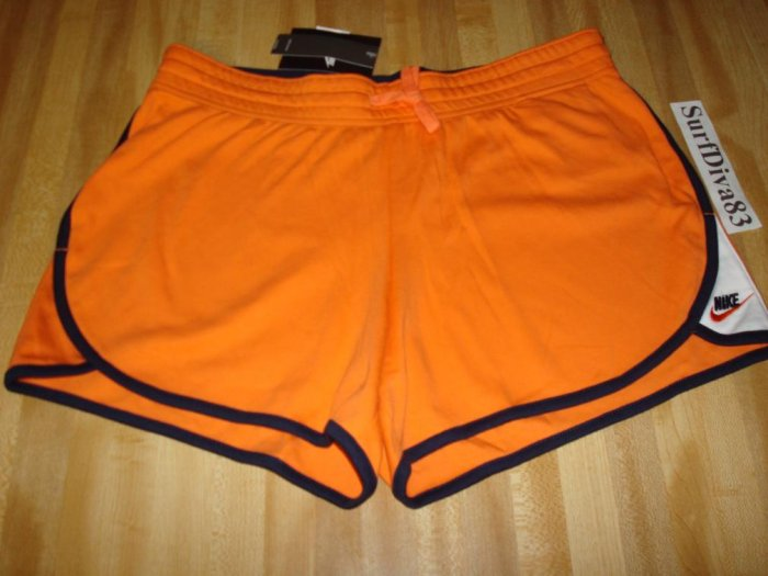 Nwt M NIKE GYM ISSUE Low Yoga Shorts Women NeW $26 Orange