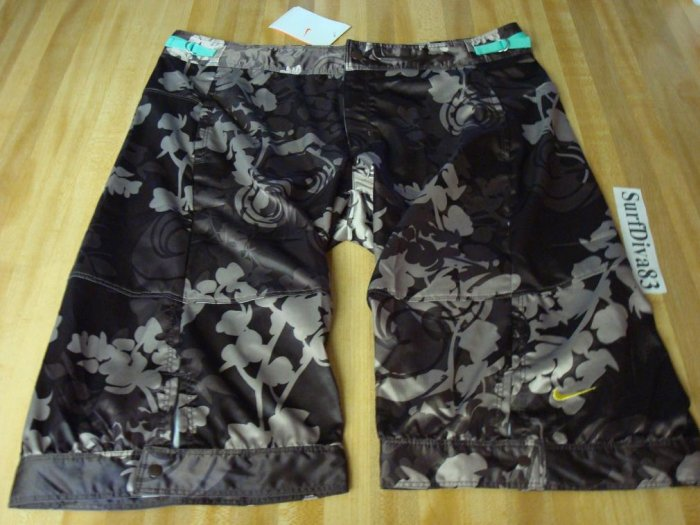 NwT L NIKE Women Dri-fit Dance Satin Knee Shorts New
