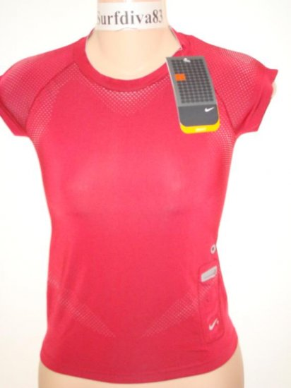 Nwt S NIKE + DRI-FIT Ipod Running Women Top Shirt New Small
