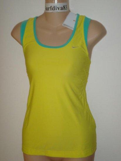 Nwt M 8-10 NIKE DRI-FIT Women Tank Top Shirt New Yellow Medium