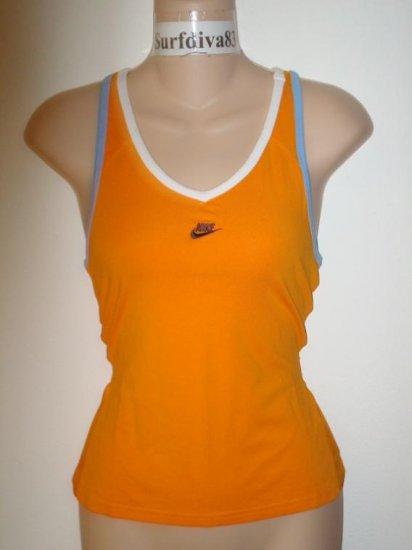 Nwt S 4-6 NIKE DRI-FIT Women Tennis Tank Top Shirt New Small Orange