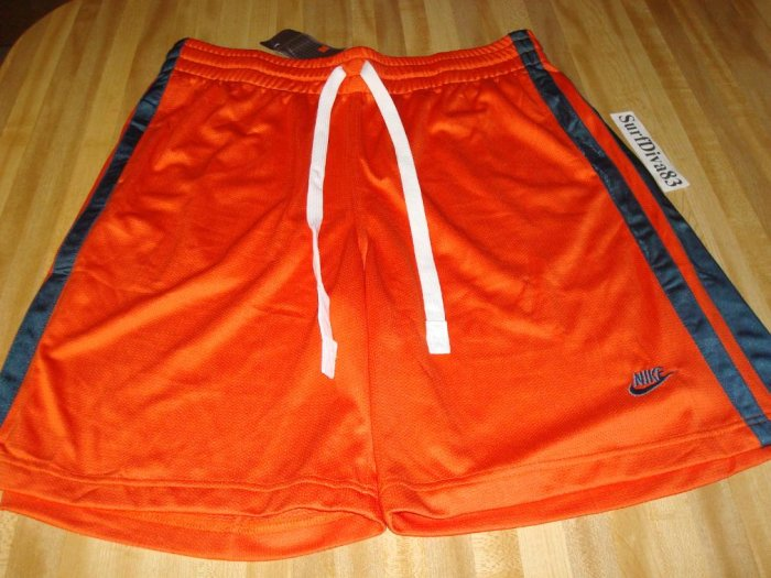NwT XL NIKE Orange Fitness Basketball Shorts Men NeW Xlarge