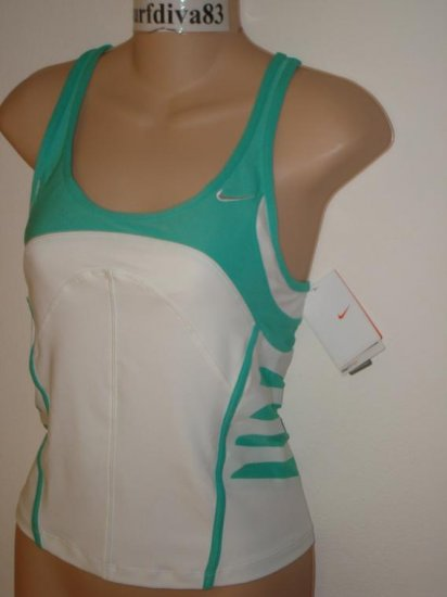 Nwt M NIKE DRI-FIT Land Shark Women Tank Top Shirt New Medium White