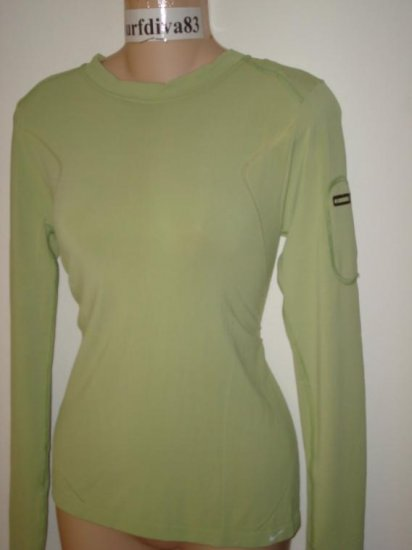 Nwt S M NIKE Dri-FIT Ipod Fitness Top Shirt New Women Small Medium Green