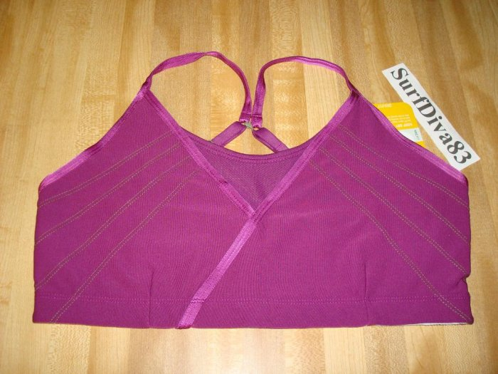 NwT L NIKE Sport Bra Top New Women DRI-FIT SHIBUYA $38 Large Grape