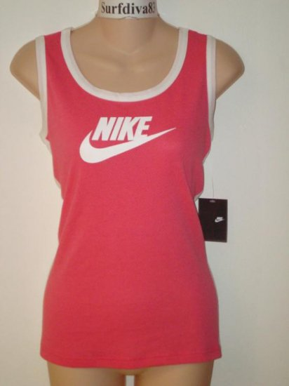Nwt M NIKE Pink Women Fitness Run Tank Top Shirt New Medium