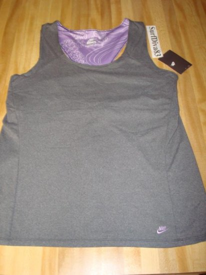 Nwt L NIKE Women Ace Essential Yoga Tank Top Shirt New Large