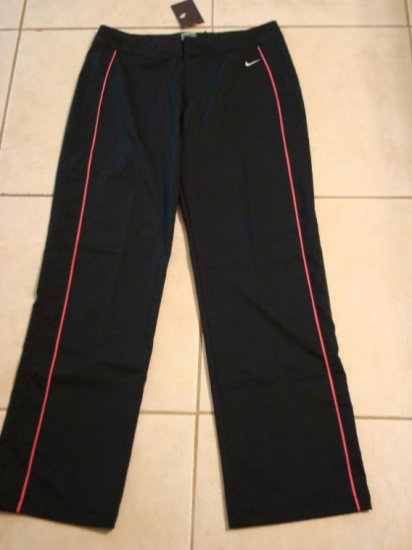 Nwt M 8 10 NIKE Black Pink WorkOut Women Pants New Medium