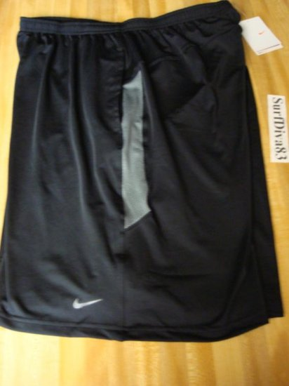 NwT 2XL NIKE DRI-FIT Black WorkOut Shorts Men New XXL