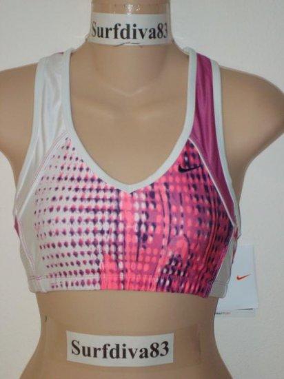 Nwt L NIKE Women DRI-FIT Yoga Tennis Sport Bra Top New Large Pink