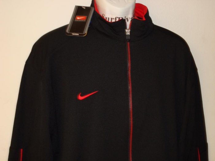 Nwt XL NIKE Dri-Fit Men Black Red Jacket New Xlarge
