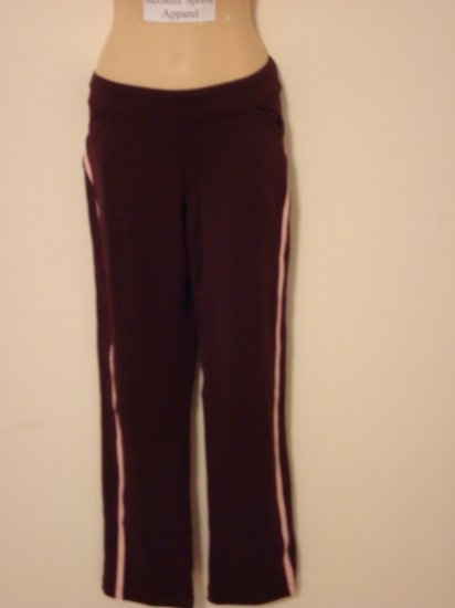 Nwt M 8 10 NIKE Dri-fit Women Border Tennis Pants New Medium Burgundy Pink Fitness