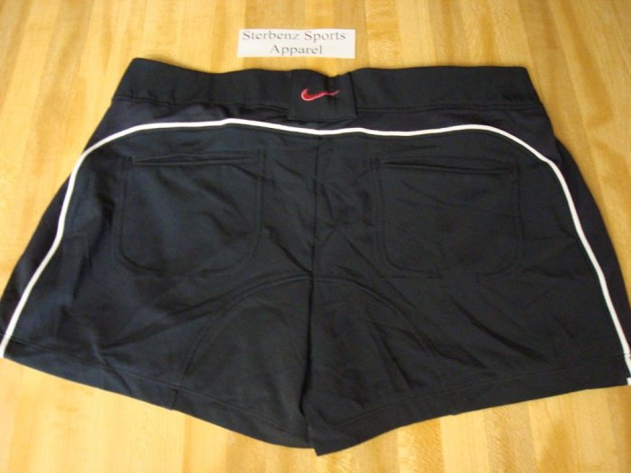 Nwt L NIKE Women Power Control Tennis Shorts New DriFit Large Black Pink 12 14