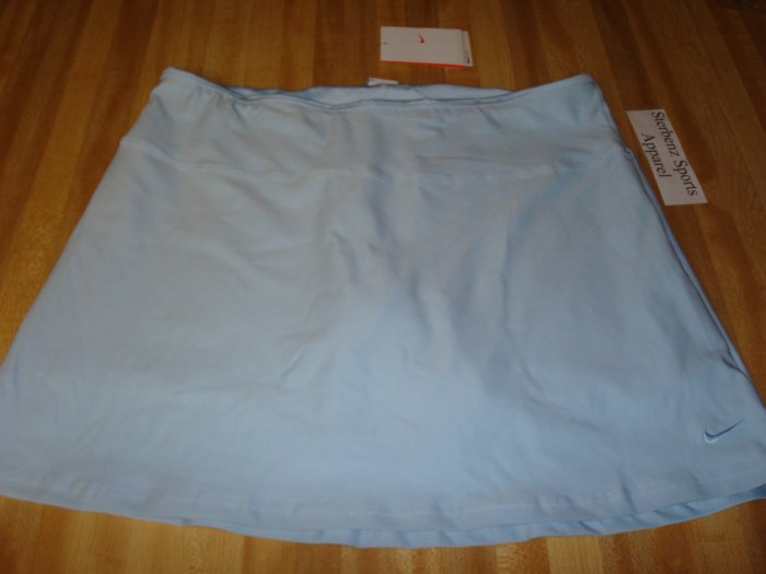Nwt L NIKE Women Fit Dry Power Tennis Skirt New $50 Blue Large 12 14