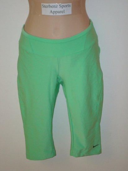 Nwt S NIKE Fit Dry Women Green Fitness Capri Pants New Small 4 6