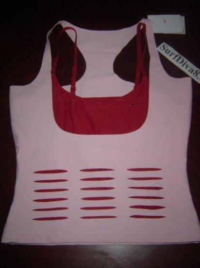 Nwt XS NIKE DRI-FIT Corset Women Tank Top Shirt New $65 Xsmall Pink