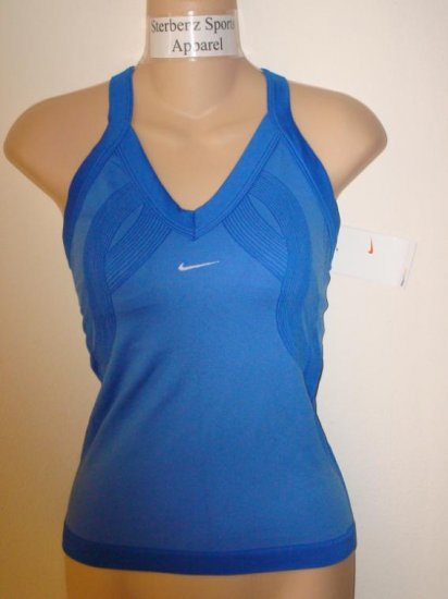 Nwt M NIKE Women Fit Dry Control Tennis Tank Top New Medium Blue