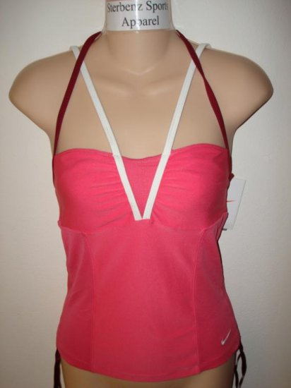Nwt XS NIKE Women Fit Dry Mid Length Sport Tank Top New Xsmall 0 2 Pink
