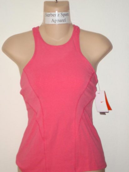 Nwt M NIKE Women Fit Dry Twisted Soy Yoga Tank Top New Medium Flamingo Pink 215190-837