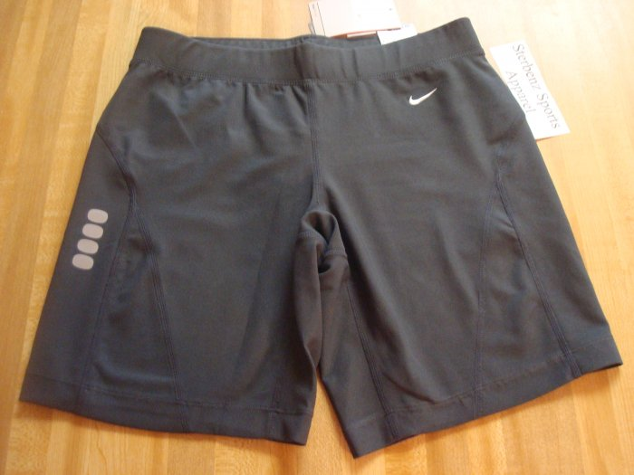 Nwt XL NIKE Women FitDry City Sprint Running Shorts New XLarge Gray