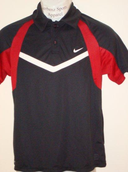 Nwt M NIKE Boys Fit Dry Control Tennis Polo Top New $38 Medium 243887-010