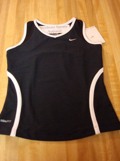 Nwt M 10 12 NIKE GIRL Black Fitness Tank Top Shirt New Medium 228438-010