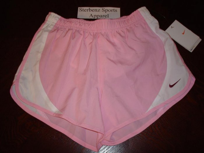 Nwt M 10-12 NIKE GIRL Pink Relay Running Shorts New $22 Medium 410019-646