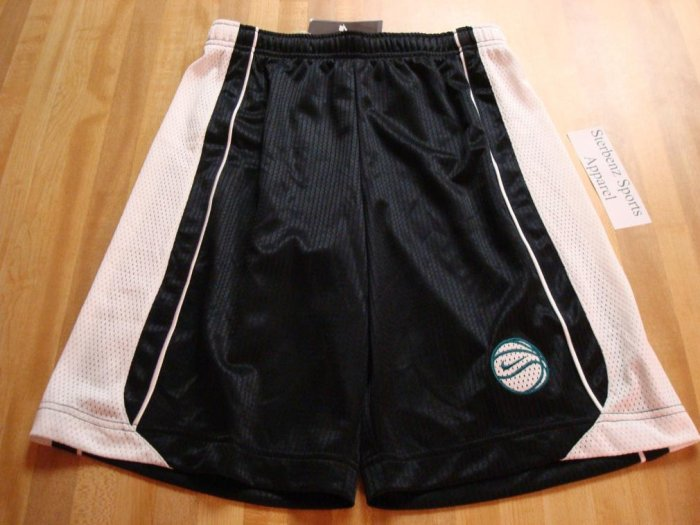 Nwt M 10-12 NIKE GIRL Black White Basketball Shorts New Medium 216254-010