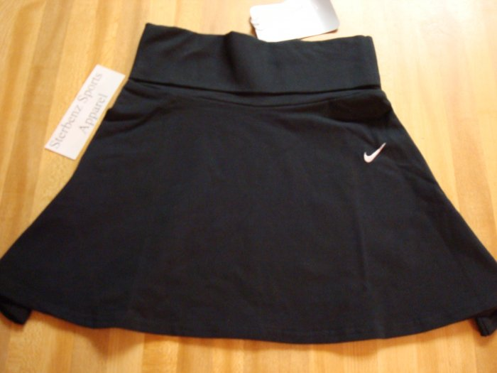 Nwt S 7-8 NIKE GIRL Black Skirt Dance Tennis New $25 Small 106980-010