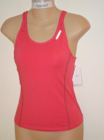 Nwt L 12-14 NIKE + Women Fit Dry Running Top Shirt New Large 253852-837