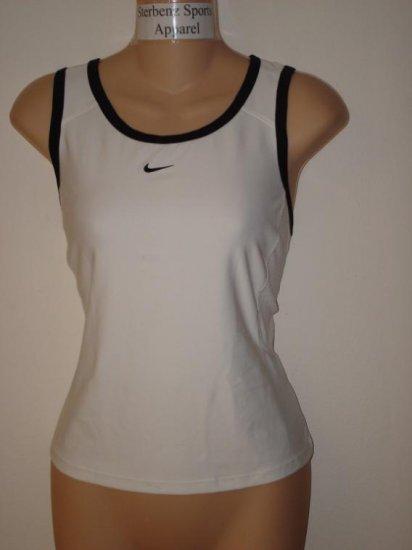 Nwt L NIKE Women Border Tennis Tank Top Shirt New $40 Large 242095-102